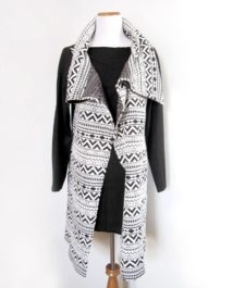BBB Bold Print Long Shrug