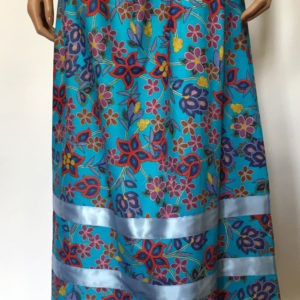 Turquoisefloralskirt
