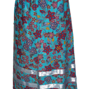 Beadwork Floral long skirt